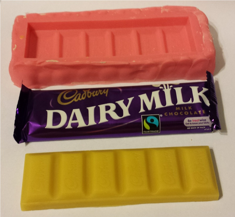 beeswax moulded chocolate bar